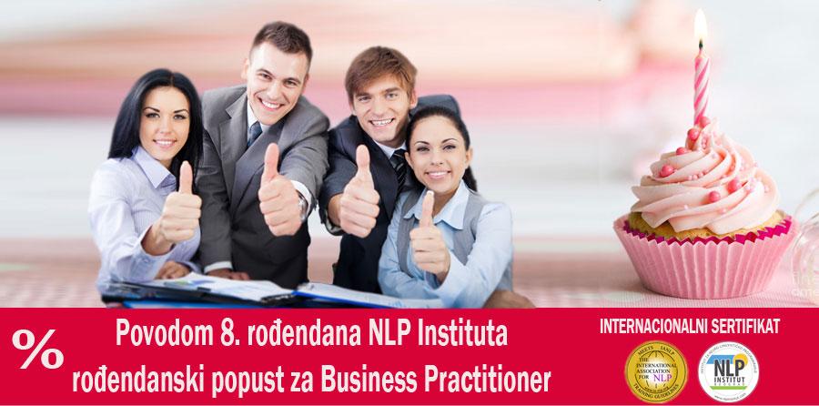 Posebna ponuda povodom 8. rođendana – NLP Business Practitioner