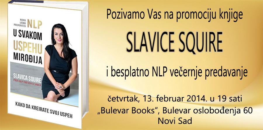 Novi Sad – besplatno NLP predavanje Slavice Squire